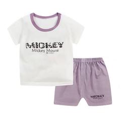 Promotion Clearance Kids Boy Toddler Shirt Top+Shorts Overalls Set Outfit 2Pcs DZ001B 55(80cm)