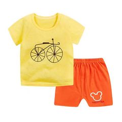D-baby Promotion Clearance Kids Boy Toddler Shirt Top+Shorts Overalls Set Outfit 2Pcs DZ001C 60(90cm)