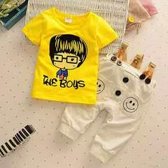 D-baby new fashion baby boys clothes set cotton material with striped print infant clothing set NZ001C 120(115CM)