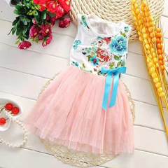D-baby Promotion Clearance Newborn Infant Baby Girl Lace Dress Todller Wedding Dress SM001B 70cm