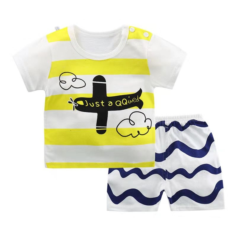 fa8cb29b4e83 D-baby Promotion Clearance Kids Boy Toddler Shirt Top+Shorts Overalls Set  Outfit AS001A 55(80cm)  Product No  7904305. Item specifics  Brand