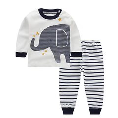 D-baby Promotion Clearance Boys Girls Clothes Sets T-shirt+ Pants 2pcs Set Full children suits LI001A 55(65-75cm)