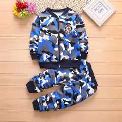 D-baby Tracksuits Boys Girls thicken camouflage Coats + Pants Sets Children Clothing Sports Suit KA009A(2PCS) 67-75cm