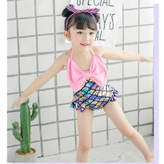 D-baby Girls Swim Clothes Watermelon Swimsuit Suspender Vogue Romper Swimwear Summer Bebe Clothing RX001A 80-90cm