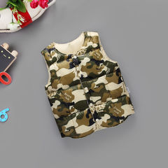 D-baby Children Winter Coats Kids camouflage Vest ,Down Cotton Jackets Vest Baby Boys Girls QH001A 110(100cm)