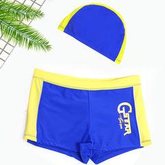 D-baby 2PCS Kids boy's swimsuit, swimming trunks + swimming cap suit YM002A M(90-105cm)