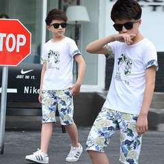 D-baby 2PCS Cool Baby Boy Summer Clothing Set Toddler Outfit Shirt+Pants Outfits Set Clothes FS001A 140(130CM)