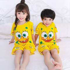 D-baby kids,girls or boys, pajamas, home clothes, lovely comfortable top + shorts suit DM001A 8(100-110cm)
