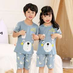 D-baby kids,girls or boys, pajamas, home clothes, lovely comfortable top + shorts suit DM001L 14(130-140cm)