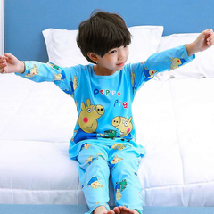 D-baby kids,girls or boys, pajamas, home clothes, lovely comfortable top + trousers suit DM002D 16(140-150cm)