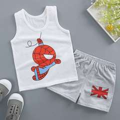 D-baby 2Pcs Kids Baby Girls Cat sleeveless shirt+ shorts Outfits Clothes Set XJ001A 110(3-4.5y)