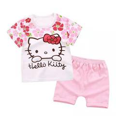 D-baby Promotion Clearance Kids Boy Toddler Shirt Top+Shorts Overalls Set Outfit 01 55(80cm)