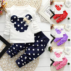D-baby Minnie Mouse Clothing Set Newborn Baby Girl Infant Clothes Toddler Outfit Kids Suit ZC002A royalblue (110cm)