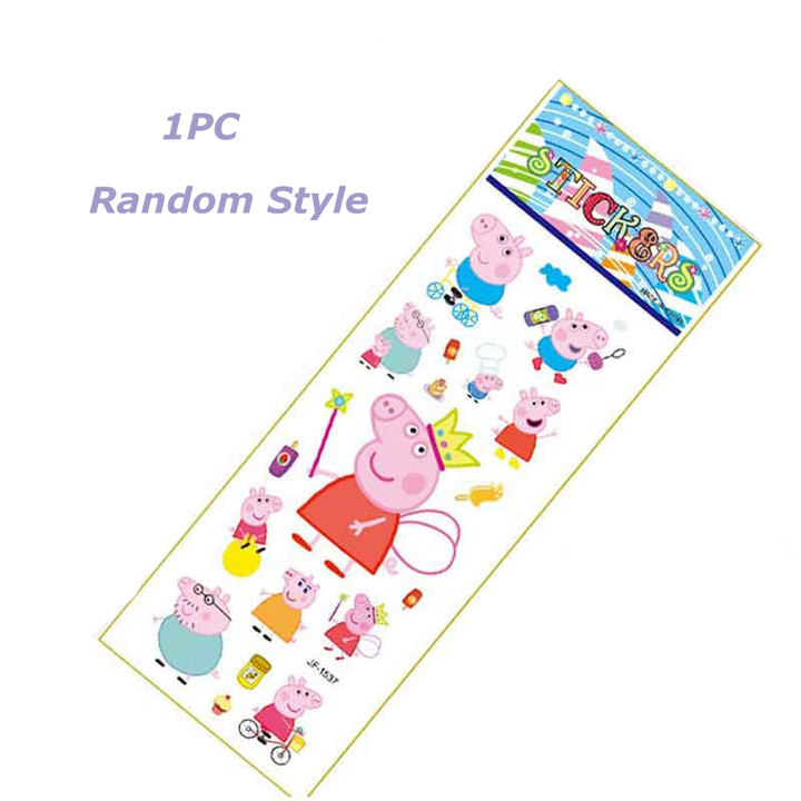 One package one sheet multiple stickers, cartoon character cartoon shape stickers, one random design 1PC Random style