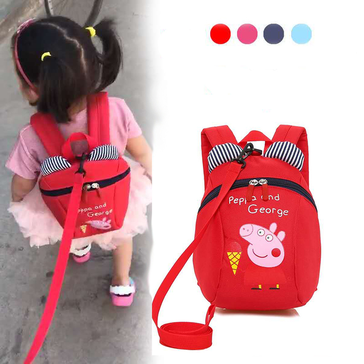 D-baby Cartoon children to prevent the loss of backpacks, boys and girls lovely backpacks A(20cm*24cm*10cm)