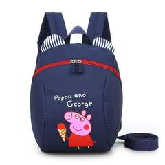 D-baby Cartoon children to prevent the loss of backpacks, boys and girls lovely backpacks C(20cm*24cm*10cm)