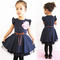 D-baby Children's clothing Baby Girls Kids Princess Dress Party Costume Dot Flower With a belt AC001A 100(90cm)