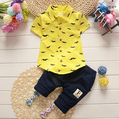 D-baby boys and girls kids clothes sets short sleeve shirt + pants clothing sets children clothes A 73(5-10M)