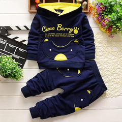 D-baby Hot Boys Girls Autumn Sport Suit Children Boys Clothing Set Toddler Casual Kids Clothes ME002A 73(0-8m)