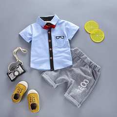 D-baby 2PCS Kids Baby Boys and Girls Set short Sleeve Tops + Pants Set children baby clothes 1 80(67-78cm)