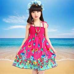 D-baby Summer Baby Girl Dress Kids Baby Girls Clothing Dresses Beautiful Flower Dress YT001D 90(80-95cm)