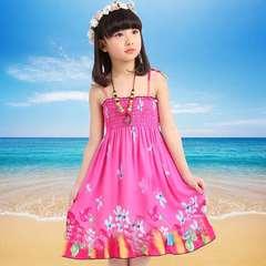 D-baby Summer Baby Girl Dress Kids Baby Girls Clothing Dresses Beautiful Flower Dress YT001C 90(80-95cm)