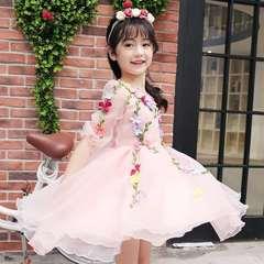 D-baby Girl Flower fairy dresses, Princess dresses, flower princess dresses, gauze dresses XQ007A 160cm