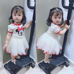 D-baby Cute baby girl Mickey Mouse dress, gauze Tutu dress, Princess Dress MQ001A 140(130cm)