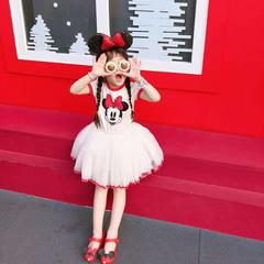 D-baby 1PC Cute baby girl Mickey Mouse dress, gauze Tutu dress, Princess Dress MQ001A 80(70cm)