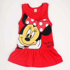 D-baby 0-4.5y Girl Cartoon Printed Top Dress Cotton Vest Top Dresses Casual Summer Girl Clothing ZC005A 80cm