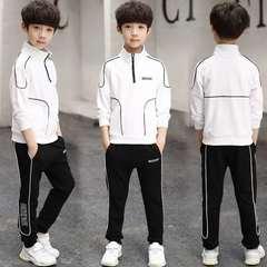D-baby 5-9.5y Gentlemen Boys Leisure Sports Suit, Collar Top + Trousers Fashion Suit FS004A 120cm