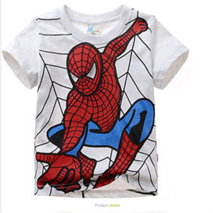 D-baby Baby Clothes Boys Tee Shirt 6 Colors Short Sleeve Shirts Tops Kids Boy Clothing A 90CM cotton