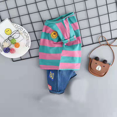 D-baby Promotion Clearance Hot New Fashion Baby Boys Clothes Set Cotton Material Infant Clothing Set NZ006F 80(75cm)