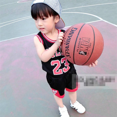 D-baby 2pcs Cool boy 1-7y NBA jersey, #23 breathable Jersey suit, Training Jersey suit NZ008A 130(125cm)