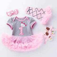 D-baby New Born Baby Girls 0-2y Dress&clothes Summer Kids Party Birthday Outfits Christening NE001A 59(0-3m)
