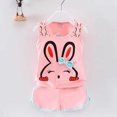 D-baby 2Pcs Kids Baby Girls Cat  sleeveless shirt+ shorts Outfits Clothes Set KA004A 110cm