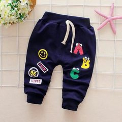 D-baby Baby girl's boy's cute pure cotton cartoon pants, children's pants, pure cotton pants A 80(6-12m)