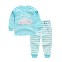 D-baby Boys Girls Clothing Pure Cotton Set Baby Outfit Top+Pants Sport Toddler Tracksuit DZ002I 50(73cm)
