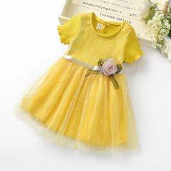 D-baby Princess Kids Baby Girl Dress Lace Floral Party Dress Gown Bridesmaid Dresses BM006A 66(60-66cm)