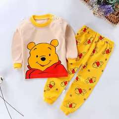 D-baby Boys Girls Clothing Pure Cotton Set Baby Outfit Top+Pants Sport Toddler Tracksuit DZ006C 60(90cm)