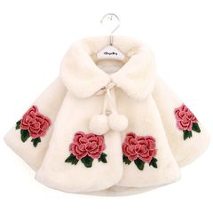 D-baby Girls Fashion Shawls Girl Autumn And Winter Fur Coat Thickening Coats BY002A 120cm