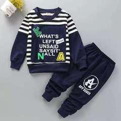 D-baby New Fashion Boys Star T-shirt+ Pants 2pcs Set Full Sleeve Clothing children active suits a 80(75cm)
