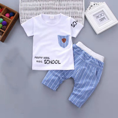 D-baby Promotion Clearance Hot New Fashion Baby Boys Clothes Set Cotton Material Infant Clothing Set NZ006L 80(75cm)
