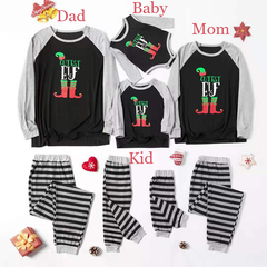 D-baby 2019 Christmas Family Pajamas Set Family Look Matching Navidad Family Matching Clothes B 80(12-18m )Baby