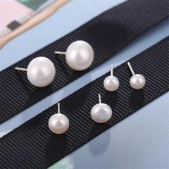 New Fashion Jewellery Women's Fashion Accessories Stud Earrings white 6mm white 6mm