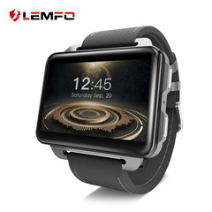 LEMFO 3G smart watch  LEM4 PRO modlel 1200 mAh battery 2.2 inch Large screen  1+16G Multi-function black one size