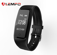 S1 heart rate bracelet intelligent monitoring health reminder message content display smart bracelet black one size