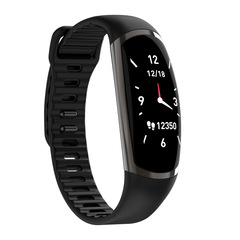 R16 color screen touch screen heart rate monitoring sports smart step counter bracelet android ios black one size