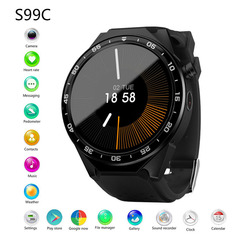 smart watch 3G card independent call WiFi internet access step heart rate photo black one size