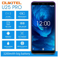 Oukitel U25 Pro 4+64GB multi-function smart camera phone twilight